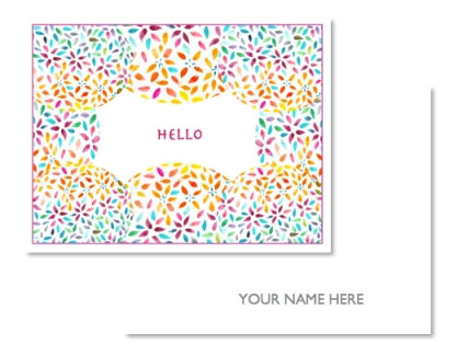 Get your cards customized with your own personal message