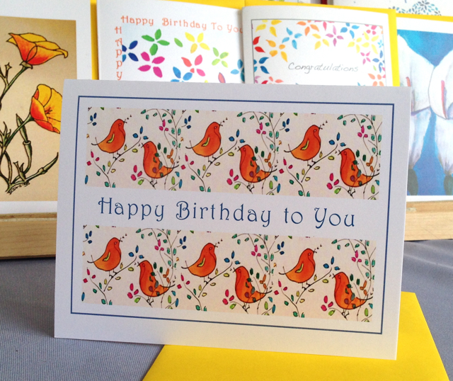 Festive Songbirds Happy Birthday #226